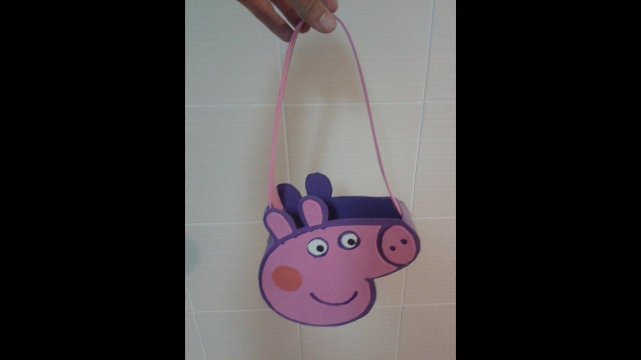 Manualidades bolso dulcero peppa pig purse peppa pig de - Cosas de goma eva ...