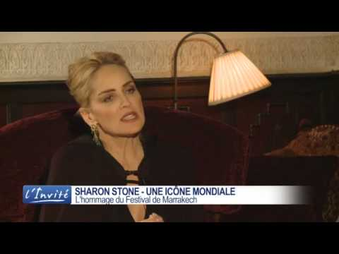 Sharon STONE on French TV