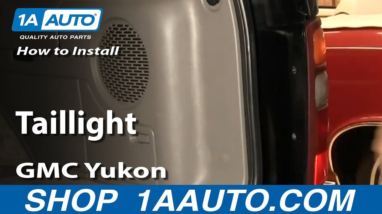 How To Install Replace Fix Broken Taillight 2000 06 Gmc
