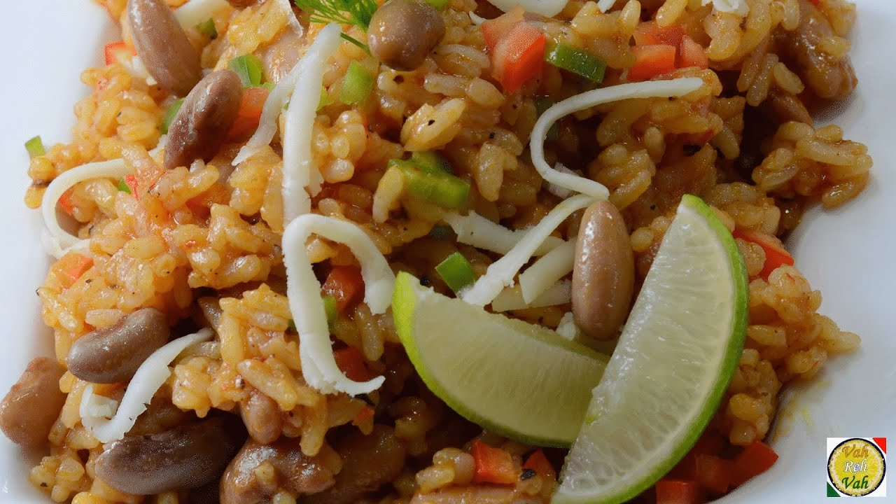 Mexican Tomato Rice with Beans - By Vahchef @ vahrehvah.com - YouTube
