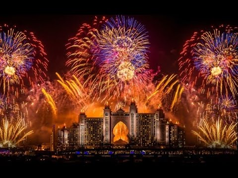 Dubai NewYear 2014 Fireworks In 4K - World Record