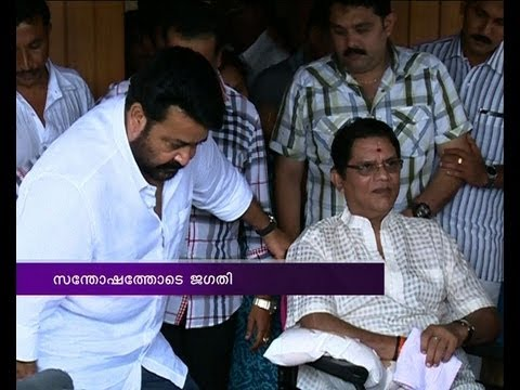 Mohanlal visits Jagathy Sreekumar 
