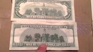 United States Money Old Vs. New 100 Dollar Bill
