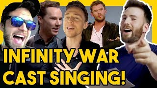 AVENGERS INFINITY WAR CAST ACTUALLY CAN SING?!