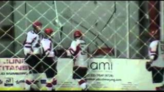 Junior Hockey Player Jumps Through Glass