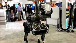 BOSTON DYNAMICS SPOTMINI ROBOT UNEXPECTEDLY ATTACK THE HUMAN