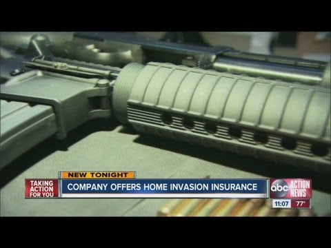 Company offers home invasion insurance