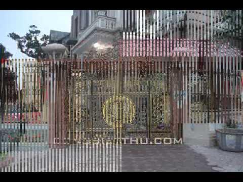 Cổng sắt, cổng inox, cổng nhôm đúc, cổng nhà đẹp, cổng biệt thự, cổng tự động