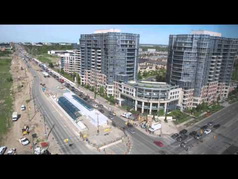 We've had a busy year along Highway 7, in Markham and Richmond Hill.  Construction of the vivaNext rapidways is making great progress with the Bayview Towers and canopy instillations, paving and boulevard landscaping.  Watch the transformation as it unfolds.