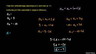 Diferenca in izračun splošnega člena