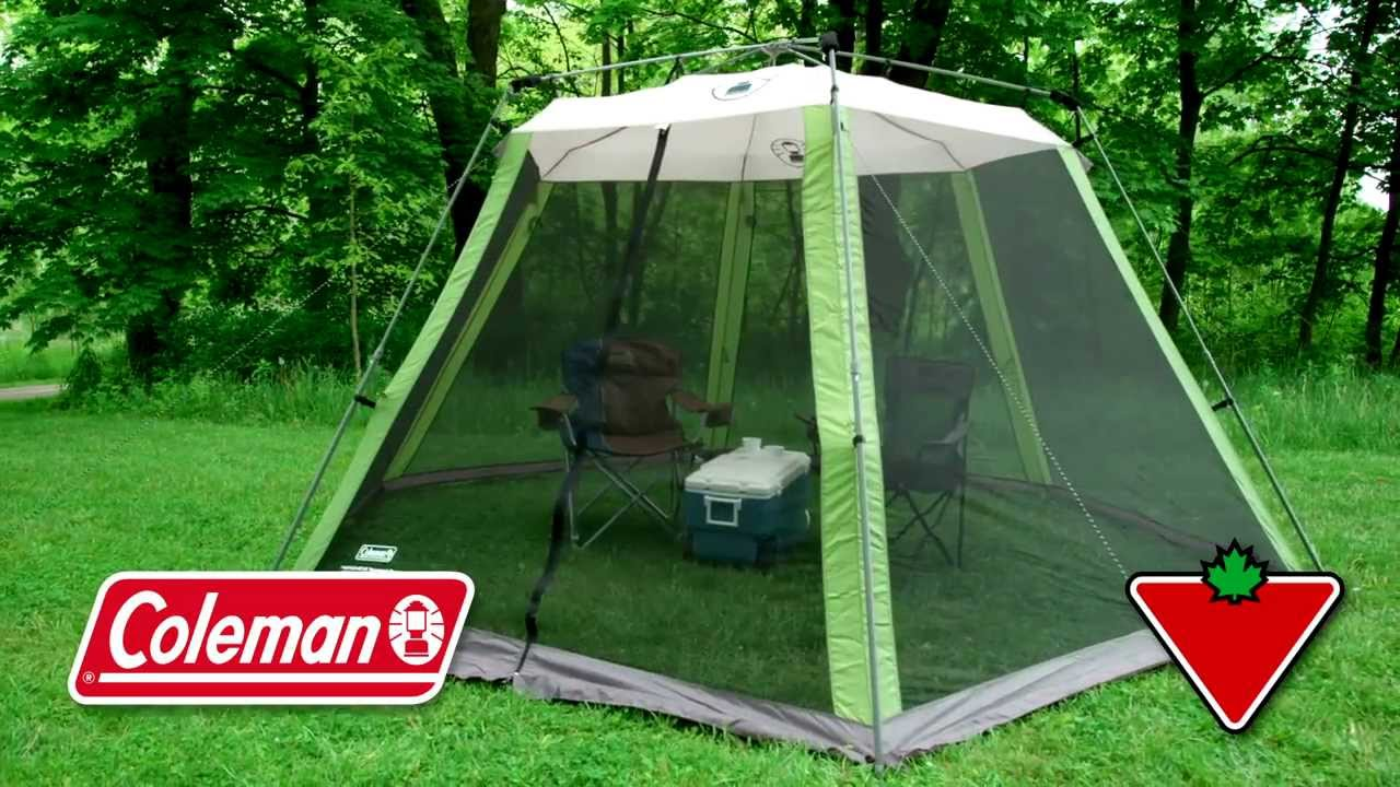 Coleman Instant Screen House From Canadian Tire Youtube