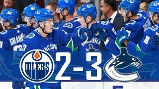 Canucks vs Oilers | Highlights | Oct. 7, 2017 [HD]