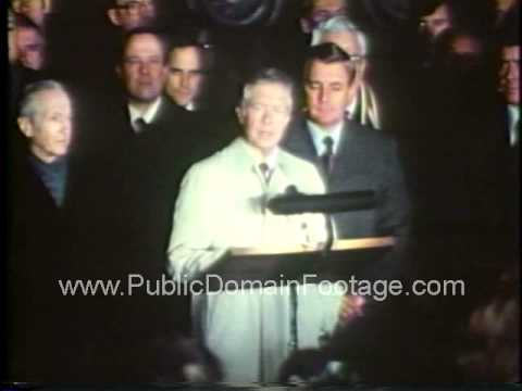 Iran Hostage Crisis - Jimmy Carter press conference Jan 21, 1981 archival footage