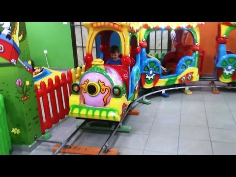 Indoor Playground Family Fun for  Kids | Mini Train Toy Ride, Arcade Games