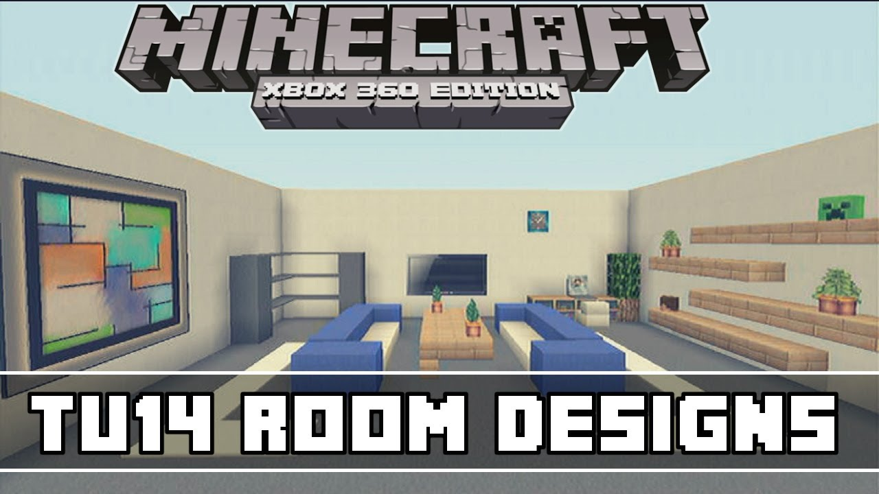 Minecraft xbox 360 tu14 living room designs youtube for Minecraft living room ideas xbox