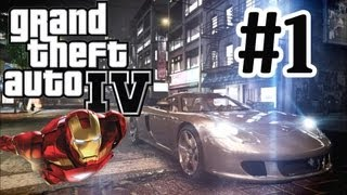 GTA 4 Modded Lets Play Part 1 Iron Man Mod PC Very