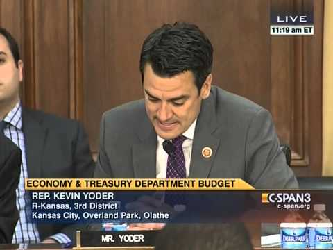 Rep. Yoder questions Secretary Jack Lew