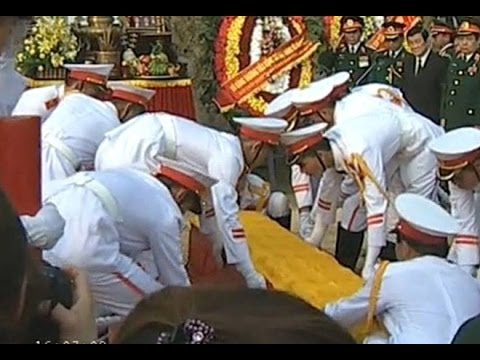Lễ hạ quan đại tướng Võ Nguyên Giáp về với đất mẹ