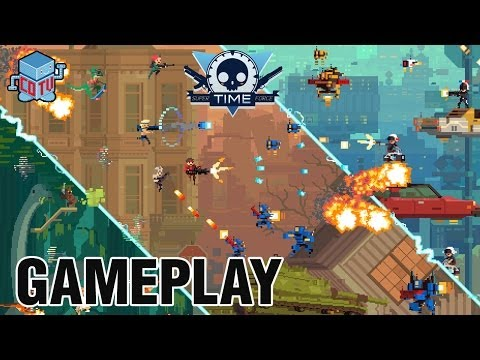 Super Time Force BOSS Gameplay