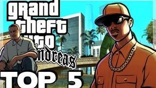 Top 5 Manhas Mais Bizarras GTA San Andreas