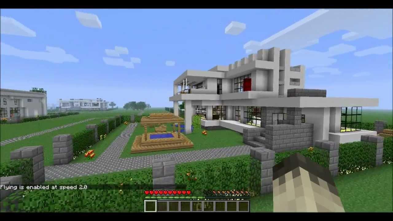 Minecraft modern neighborhood house six download hd youtube