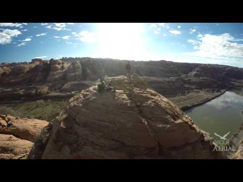 Base Jump Moab - Aerial Drone Footage