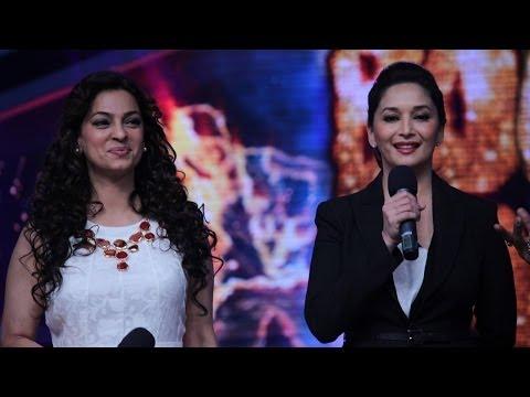 Juhi Chawla and Madhuri Dixit on Boogie Woogie