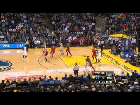 Klay Thompson 22pts (9 on 4thQ), 7 asis [Warriors 27-points comeback win vs Toronto] [NBA 13/14]