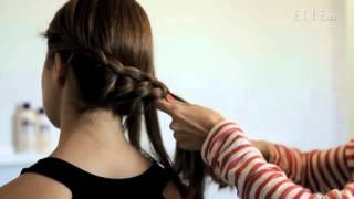 Peinado con recogido en trenza