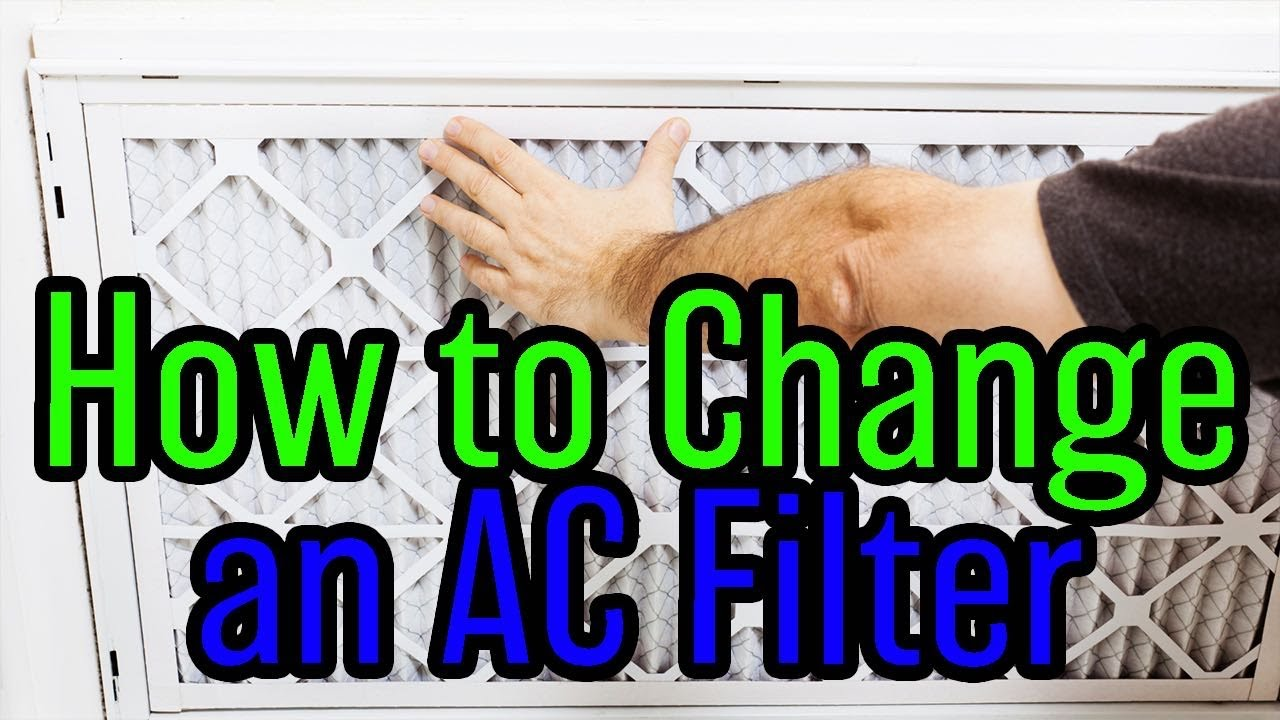 How To Change Your Ac Filter Youtube