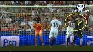 La clamorosa simulazione di Murillo che ha portato all'espulsione di Ronaldo