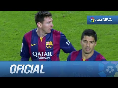 Zurdazo ajustado de Messi (1-1) en el FC Barcelona - RCD Espanyol - HD