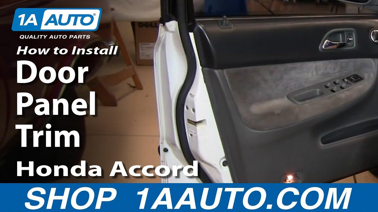 How to install replace door panel trim honda accord 94 97 for 1997 honda civic window handle