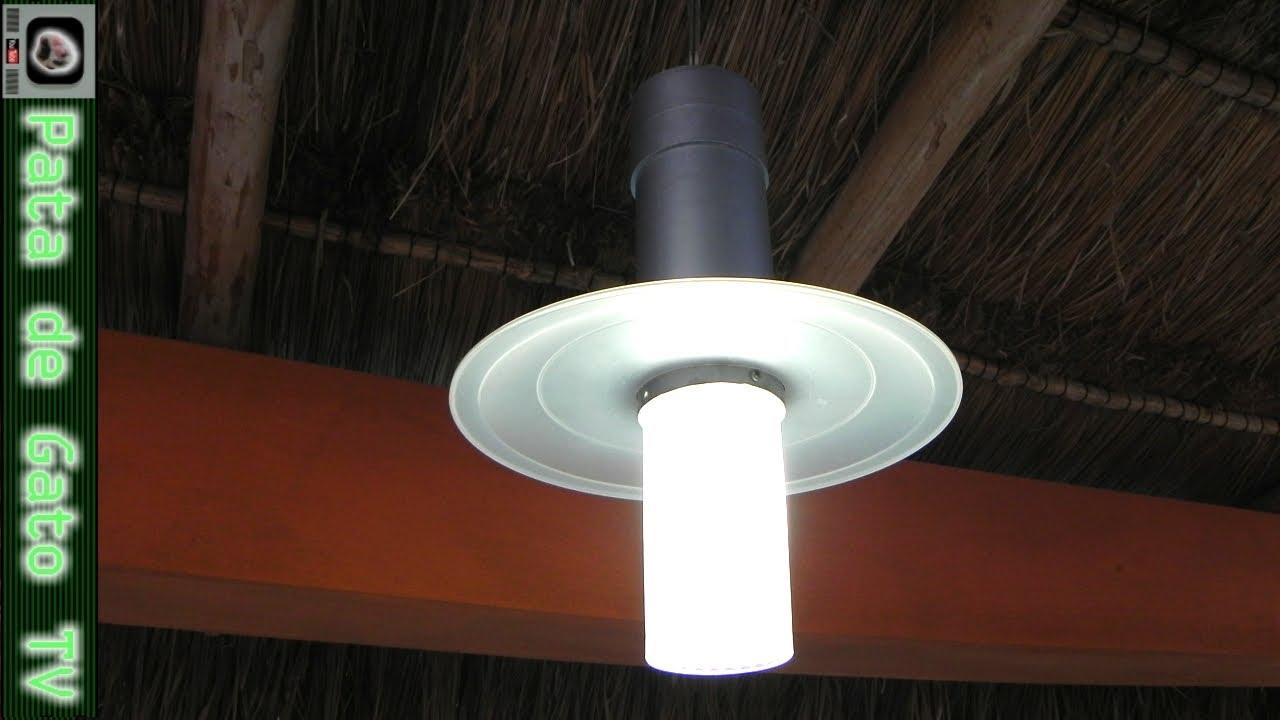L mpara colgante para exteriores barata y resistente for Lamparas de exterior para terrazas