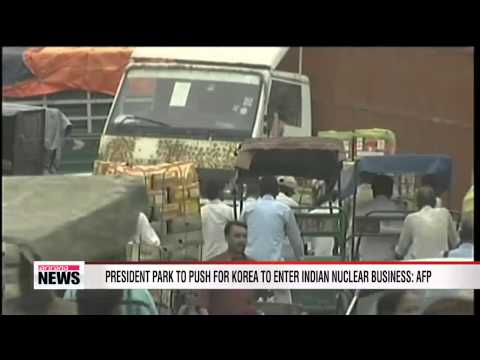 President Park to push for Korea to enter Indian nuclear business