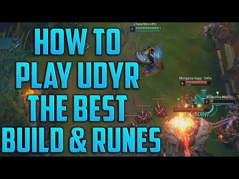UDYR BUILD GUIDE: How To Jungle Udyr Guide | LOL Udyr Build - Mobafire Udyr BEST RUNES ChaseMorePlz