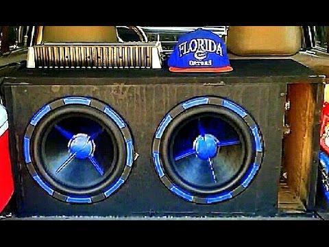 2 12s Subwoofers Flex Car 1700 watts 1ohm Loud Bass Sundown audio
