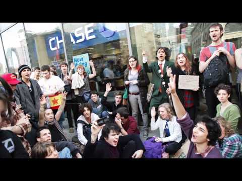 Occupy Wall Street :  Police Brutality as 8000 people take Time Square 1080p HD  10.15.11