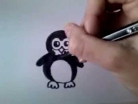 'How to draw' #4 cartoon pinguïn
