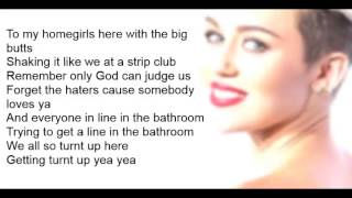 Miley Cyrus - We Can't Stop (Lyric Video)