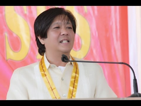 Sen. Bongbong Marcos -- Bulacan State University Commencement Exercises (10 April 2013)