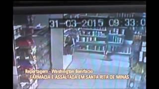 Dupla assalta  farm�cia em Santa Rita de Minas