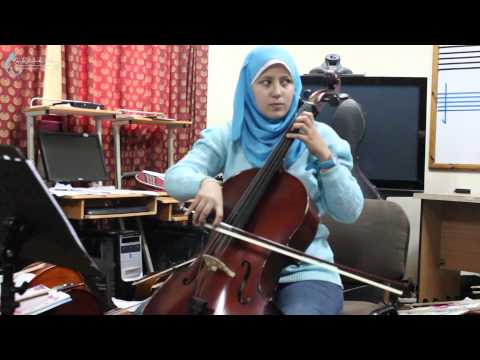 ESNCM GAZA BRANCH - A New Year Carol - Cello Student - Anda