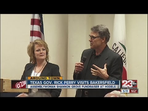 Texas Governor Rick Perry visits Bakersfield