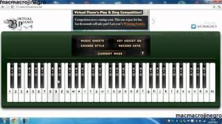 Toca el piano en tu pc