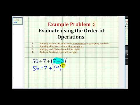 Example 3: Evaluate the Answer using Order of Operations