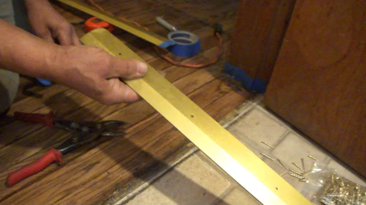how to install a door threshold youtube