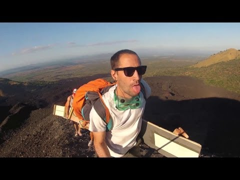 Volcano Boarding at Cerro Negro - Nicaragua (The Backpack Sessions)