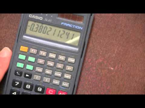 Basic Operation of Scientific Calculator