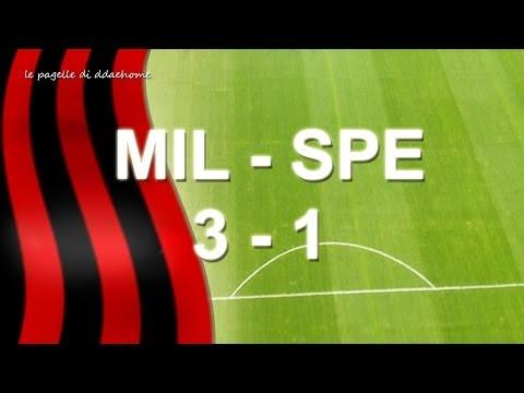 MILAN 3 - 1 SPEZIA (Robinho, Pazzini, Honda, Ferrari) - PAGELLE - no sintesi o highlights